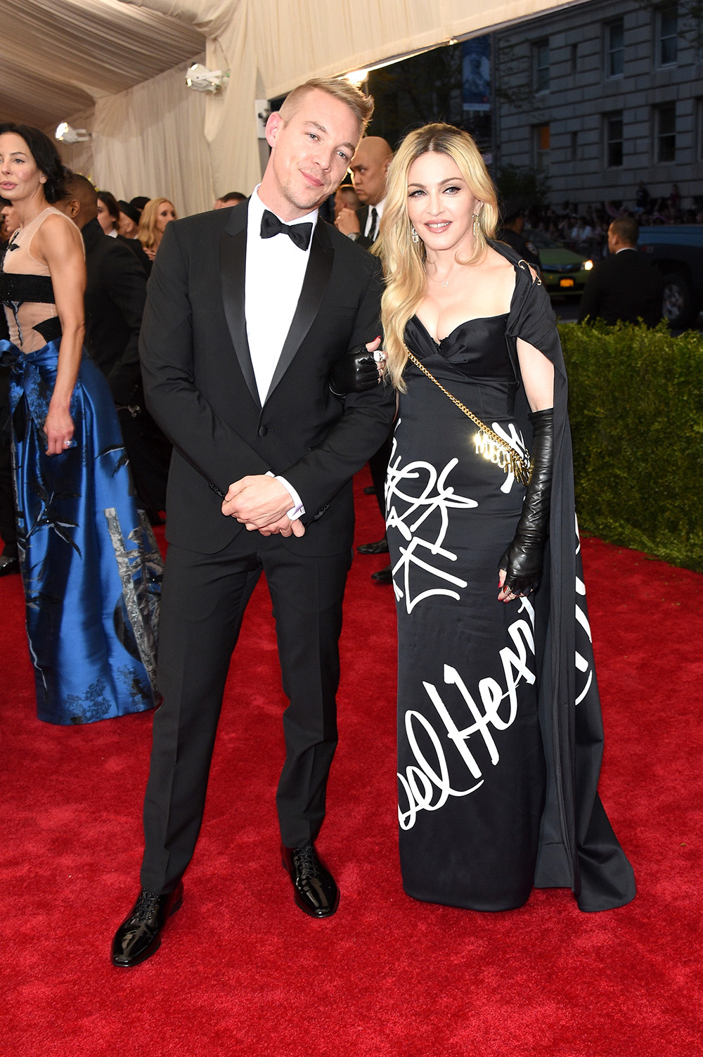 "NEW YORK, NY - MAY 04:  Diplo and Madonna attend the ""China: Through The Looking Glass"" Costume Institute Benefit Gala at the Metropolitan Museum of Art on May 4, 2015 in New York City.  (Photo by Larry Busacca/Getty Images)"