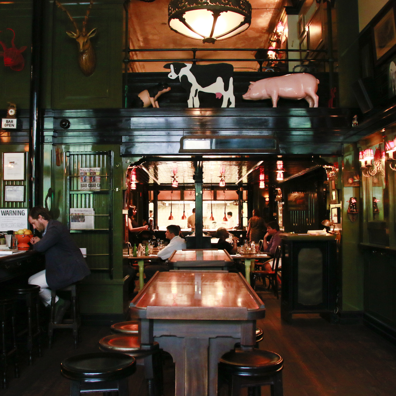 "From NY ""Ace Hotel""にある「The Breslin Bar & Dining Room」でランチ"